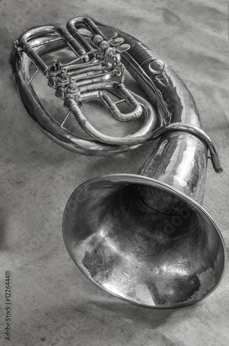Photo Musical wind instrument baritone