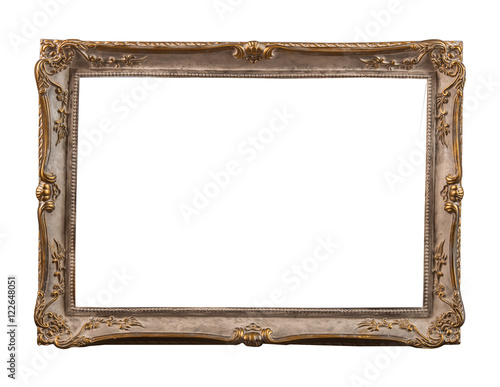 Plaster Frames For A Picture A Photo And A Mirror Isolated On