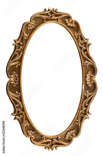 plaster frames for a picture, a photo, and a mirror isolated on ...