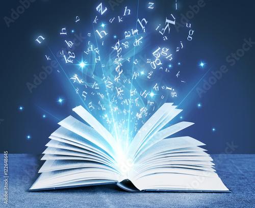 Valokuvatapetti blue magical book