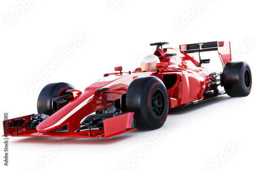 Race car and driver angled ...