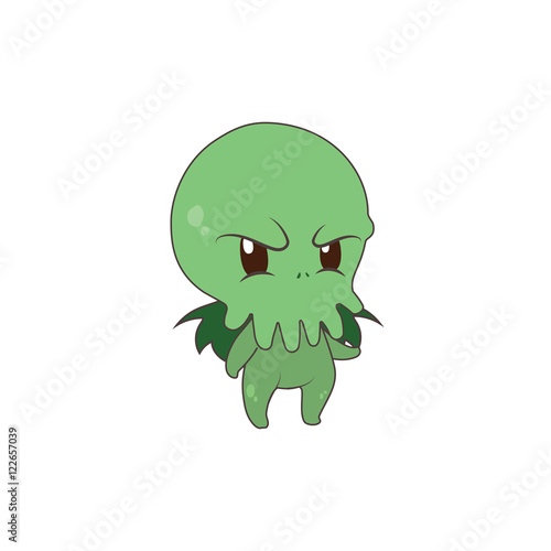 Cute Cthulhu being mad Poster