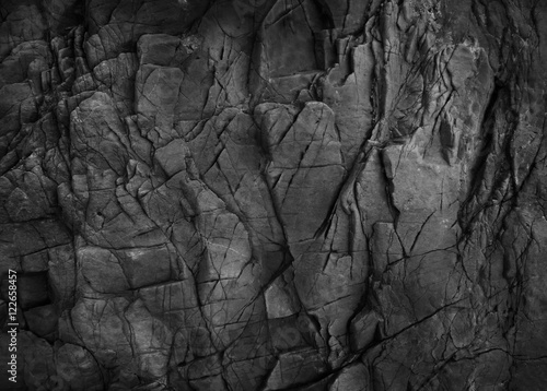 Poster Stenen Dark grey black slate background