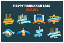 Happy Hanukkah Sale Emblem Set
