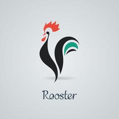 Rooster, cock, chicken vector illustration.
