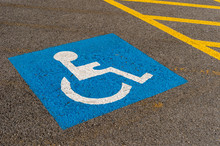 Disabled Blue Parking Sign Pai...