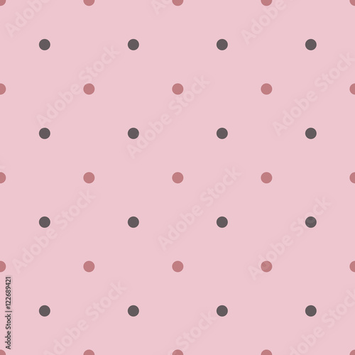 Cotton fabric Seamless polka pattern