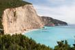 Sandy beach in a sunny waether on Lefkada, Greece