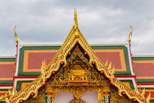 Thai Art On Roof Church At Phathat Cheung Choom Woravihan Temple