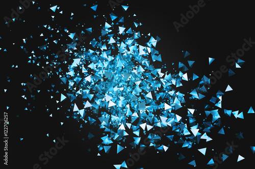 niebieskie-niewielkie-piramidy-na-czarnym-tle-abstrakcyjny-wzor-3d