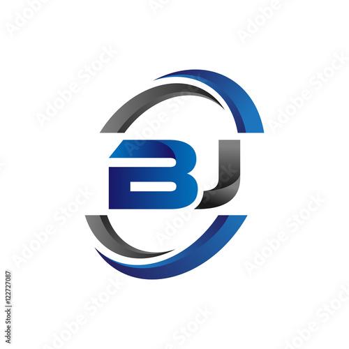 simple modern initial logo vector circle swoosh bj buy this stock rh stock adobe com bj logistics bj logistics