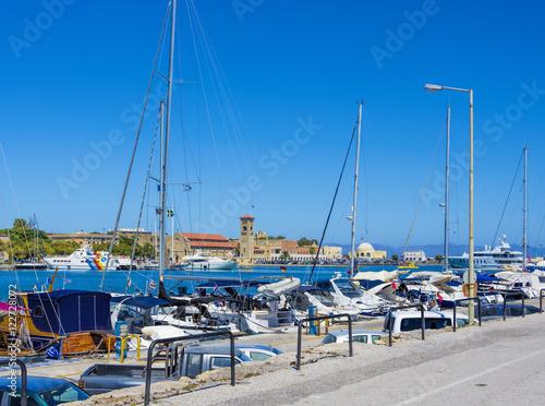 Foto auf AluDibond Stadt am Wasser beautiful views city of Rhodes