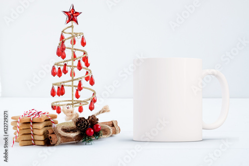 Mockup Styled Stock Product Image, white mug that you can overlay your design or quote on to.