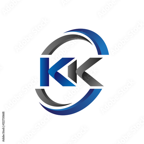 Simple Modern Initial Logo Vector Circle Swoosh Kk Buy This Stock Vector And Explore Similar Vectors At Adobe Stock Adobe Stock