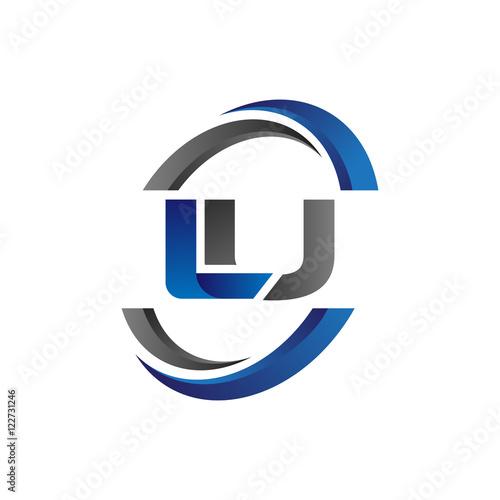 Simple Modern Initial Logo Vector Circle Swoosh lu Fototapete