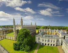 Cambridge, View Of King's College Chapel, University Of Cambridge, England. Cambridge Is A University City And The County Town Of Cambridgeshire, United Kingdom, North Of London.