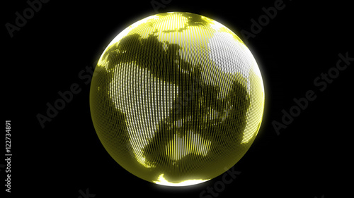 Fotomural  Earth animation. Rotating globe 4k lioop