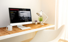 Minimalist Workplace With Vide...