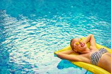 Enjoying Suntan. Vacation Conc...
