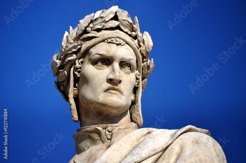 Photo  Florenz - Dante-Denkmal auf der Piazza Santa Croce