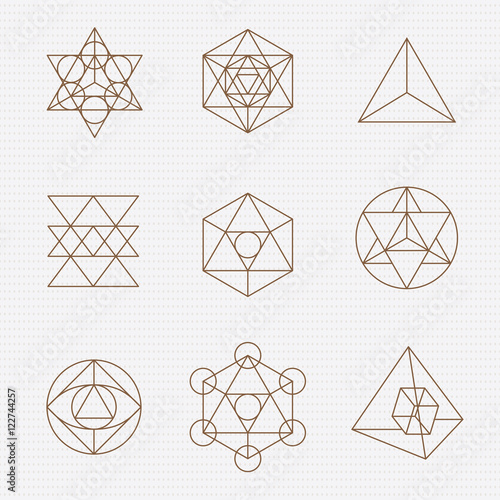 Fotografie, Obraz  Sacred geometry vector design elements.