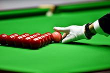 Snooker Referee Arranging Pink Ball