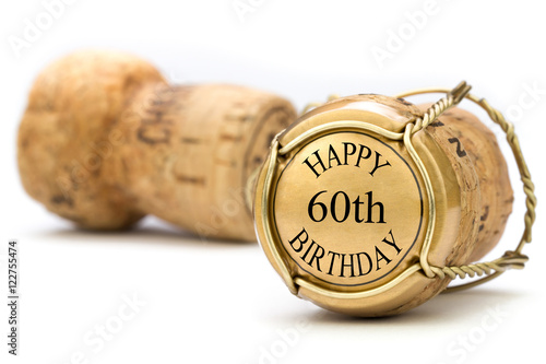 Fotografia  Happy 60th Birthday - Champagne