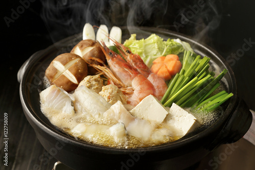 Fotografie, Obraz  海鮮鍋 Japanese seafood hot pot