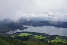 箱根駒ヶ岳からの景色 風景 富士山 芦ノ湖 日本