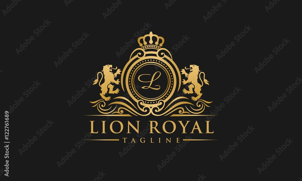 Fototapeta Lion Royal Logo