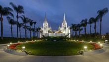 San Diego California Temple At...