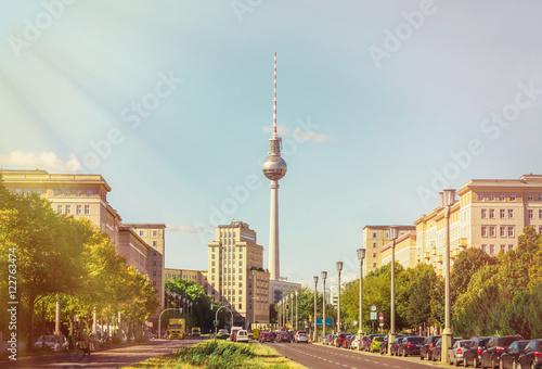 In de dag Berlijn Strausberger Platz Berlin
