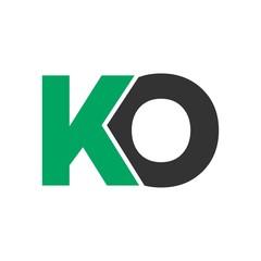 KO letter initial logo design