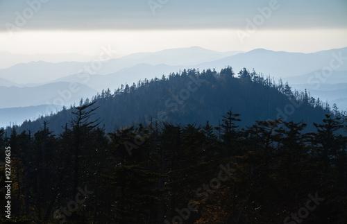 Aluminium Prints Blue sky Great Smoky Mountains National Park