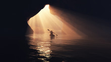 Boat In Cave.