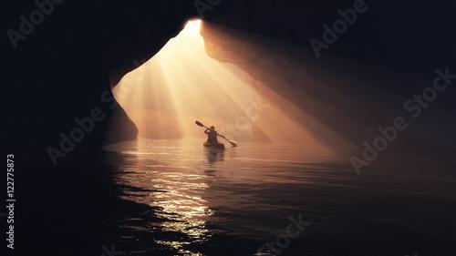 Fotografía Boat in cave.