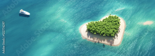 Obraz na plátne Paradise tropical island