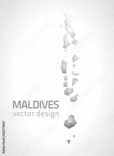 Maldives polygonal grey and silver vector modern triangle map - Buy ...