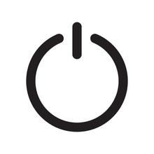 Line Icon Shut Down. Vector Illustration.