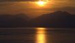 canvas print picture - Sonnenuntergang, Abendstimmung, Gardasee