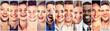 Leinwandbild Motiv Laughing people. Group happy men, women, children