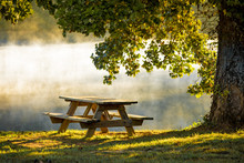 Morning Mist And Table