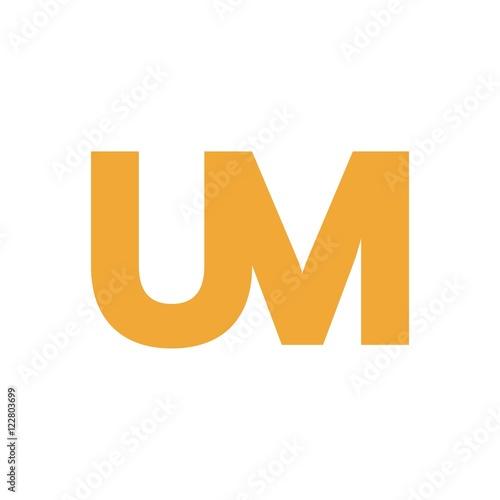UM letter initial logo design Wallpaper Mural