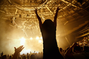 fototapeta muzyk rockowy na koncercie
