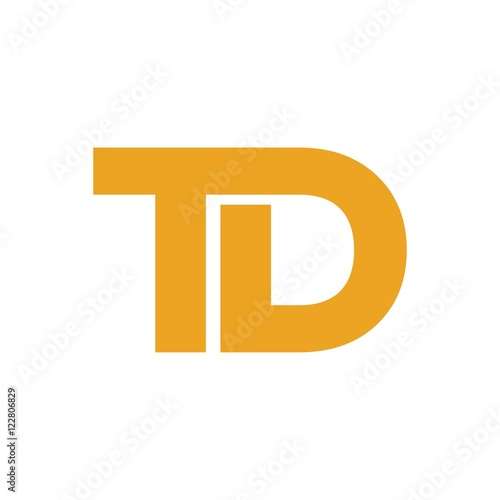 Td Letter Initial Logo Design Buy This Stock Vector And Explore