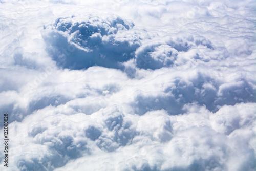 Plakat Chmury Cumulus z góry