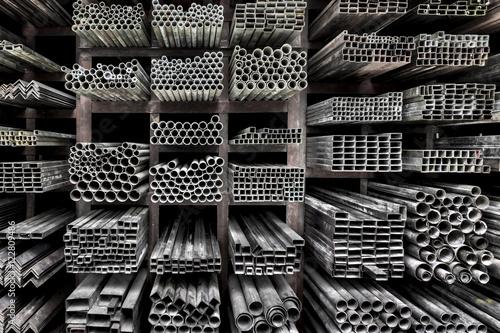 Fotografie, Obraz  Extruded aluminum metal tubes, Hue, Vietnam
