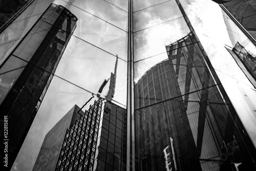 Modern architecture black and white Fototapeta