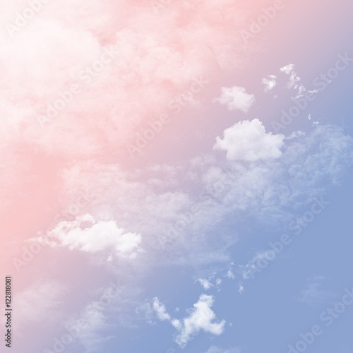 Rose Quartz And Serenity Tone Sky With Cloudy Buy This Stock Photo