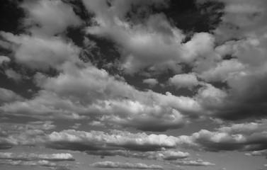 Panel Szklany Niebo black and white sky
